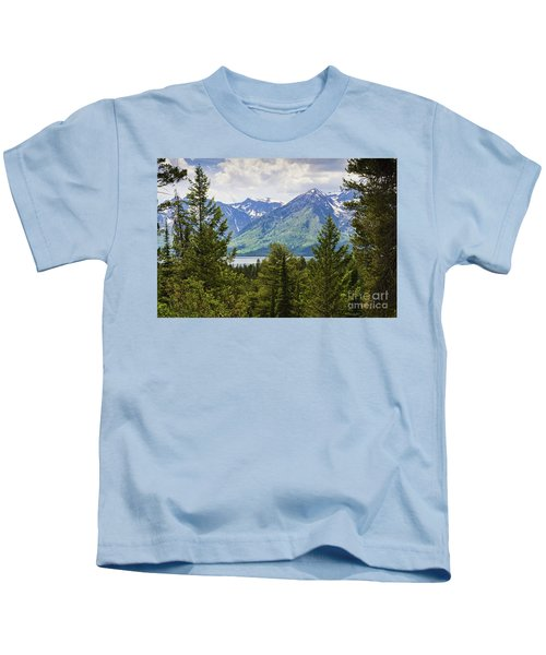 Grand Teton Mountains Kids T-Shirt