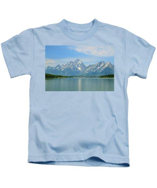 Grand Teton Over Jackson Lake Kids T-Shirt