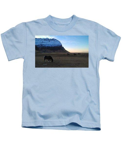 Grazing At Dawn Kids T-Shirt