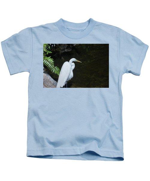 Great White Egret Kids T-Shirt