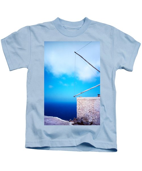 Greek Windmill Kids T-Shirt