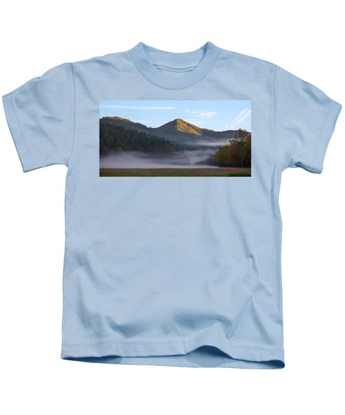 Ground Fog In Cataloochee Valley - October 12 2016 Kids T-Shirt