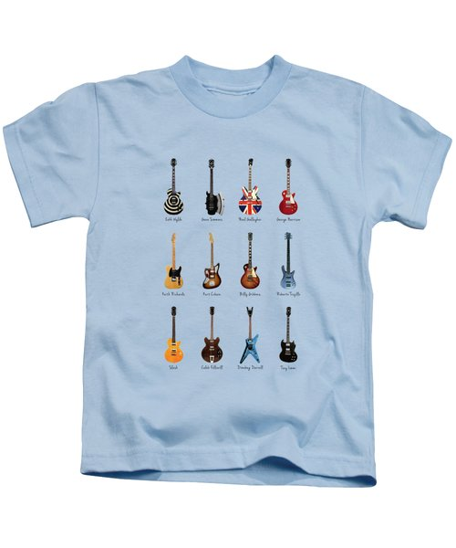 Guitar Icons No2 Kids T-Shirt by Mark Rogan
