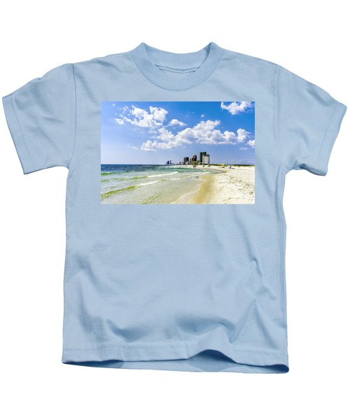 Gulf Shores Al Beach Seascape 1746a Kids T-Shirt