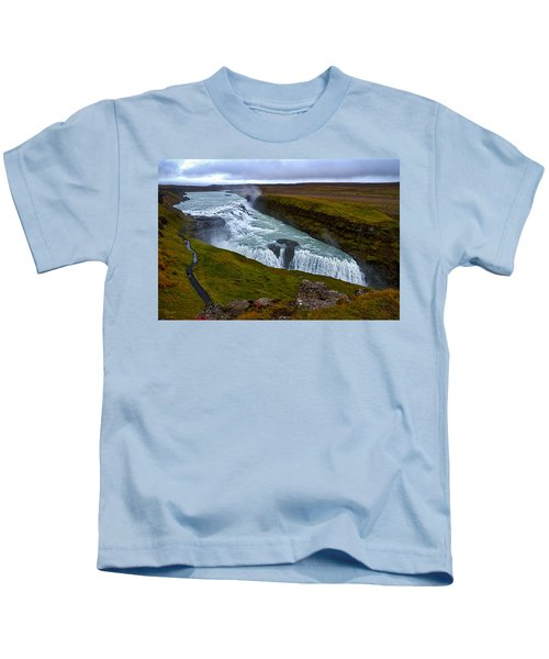 Gullfoss Waterfall #2 - Iceland Kids T-Shirt