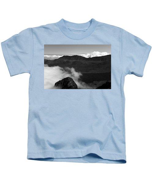 Haleakala B/w Kids T-Shirt