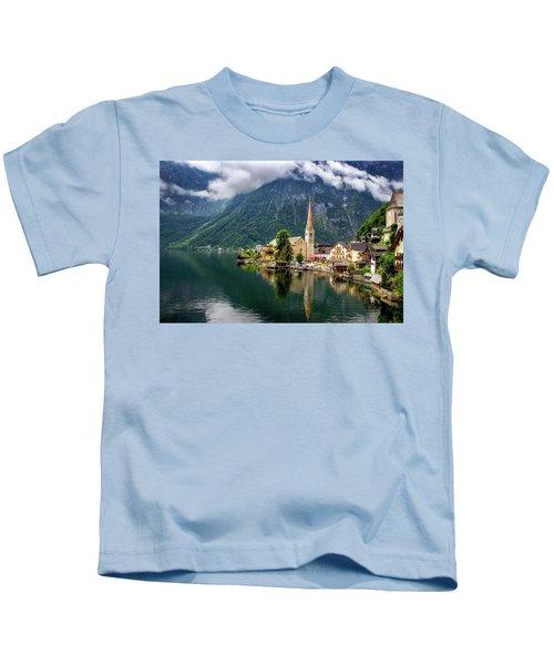 Hallstatt Across The Lake, Austria  Kids T-Shirt