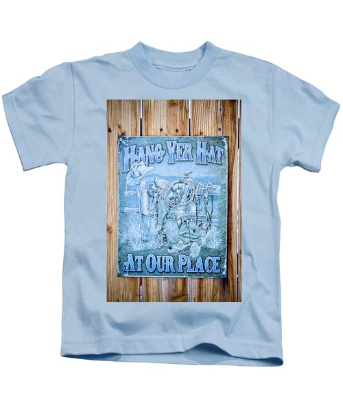 Hang Yer Hat At Our Place Kids T-Shirt