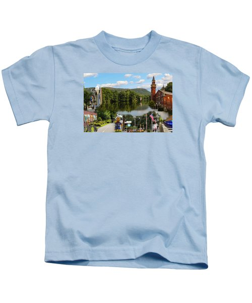 Happy In Easthampton Collage Kids T-Shirt