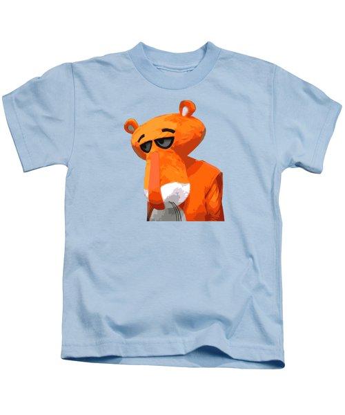 Happy Panther Kids T-Shirt by Jirka Svetlik