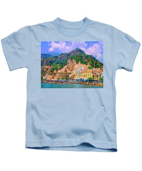 Harbor At Amalfi Kids T-Shirt