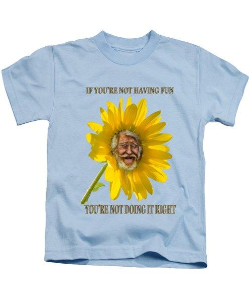 Having Fun Kids T-Shirt by Rick Mosher