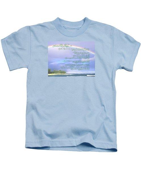 Hawaiian Language Wedding Blessing Kids T-Shirt