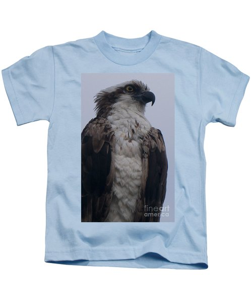 Hawk Looking Into The Distance Kids T-Shirt