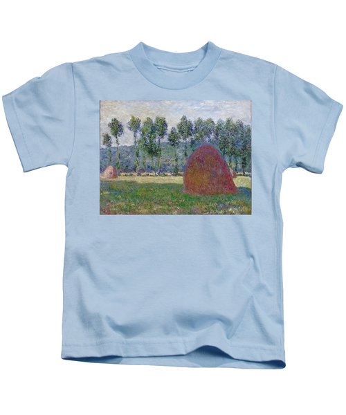 Haystack At Giverny, 1885 Kids T-Shirt