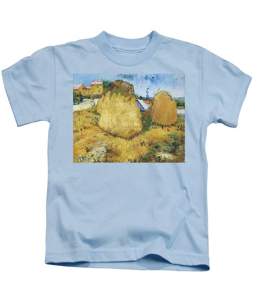 Haystacks In Provence, 1888 Kids T-Shirt