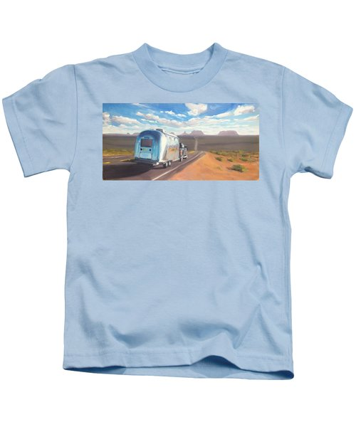 Heading South Towards Monument Valley Kids T-Shirt