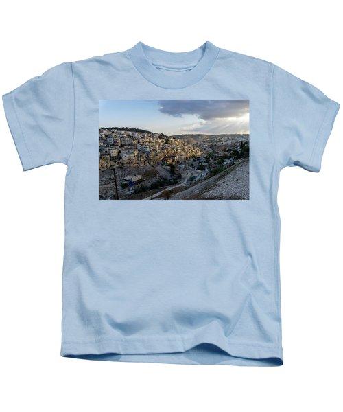Heaven Shines On The City Of David Kids T-Shirt