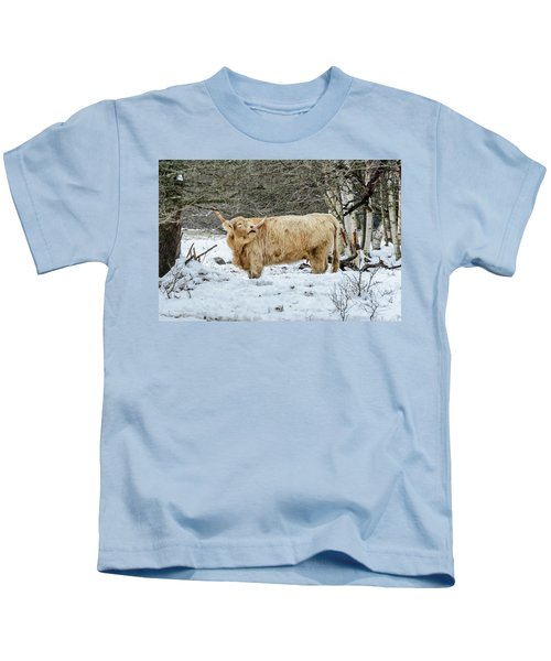 Highlander In Winter Kids T-Shirt