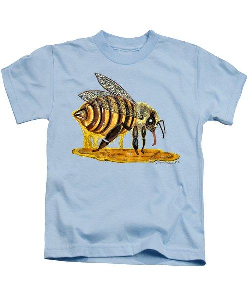 Honey Bee Dipper Ultra Gooey   Kids T-Shirt
