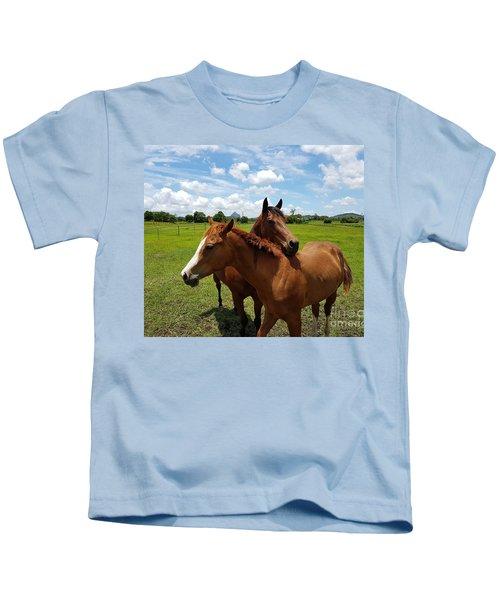 Horse Cuddles Kids T-Shirt