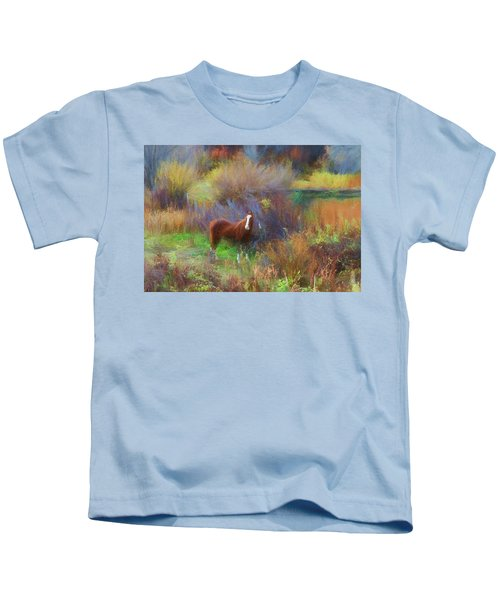 Horse Of Many Colors Kids T-Shirt