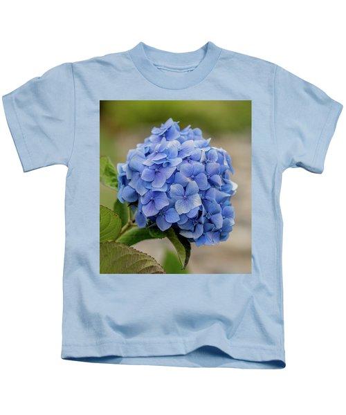 #hydrangea In Blue Kids T-Shirt