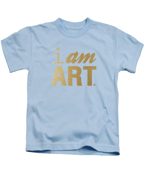I Am Art- Gold Kids T-Shirt