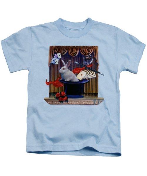 I Believe In Magic Kids T-Shirt by Rob Corsetti