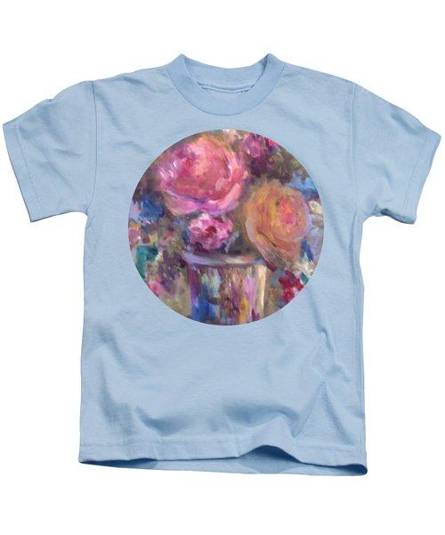 Impressionist Floral Art Kids T-Shirt