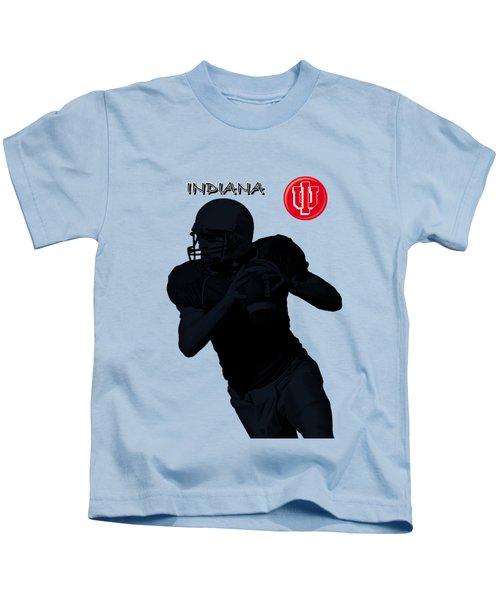 Indiana Football Kids T-Shirt by David Dehner