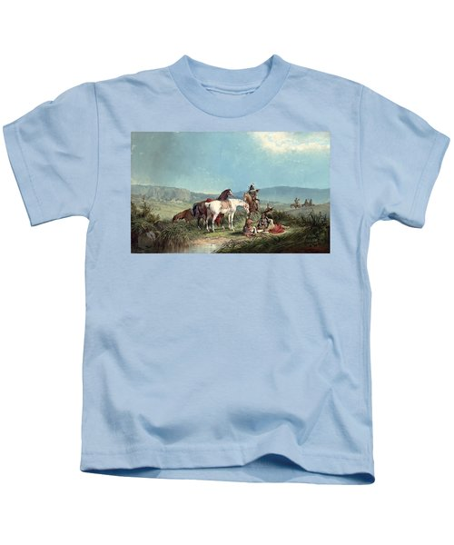 Indians Playing Cards Kids T-Shirt