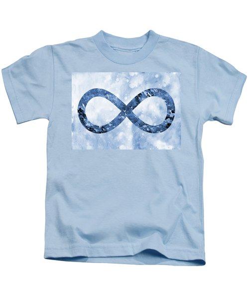 Infinity Symbol-blue Kids T-Shirt