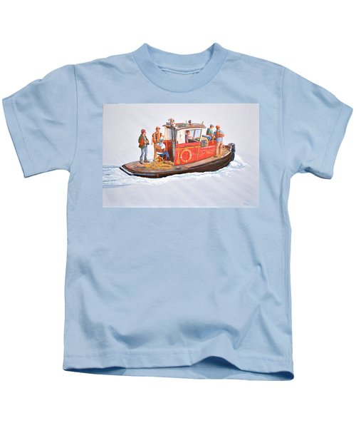 Into The Mist-the Crew Boat Kids T-Shirt