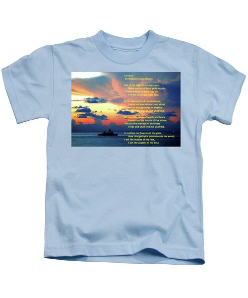Invictus By William Ernest Henley Kids T-Shirt