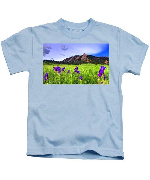 Iris And Flatirons Kids T-Shirt