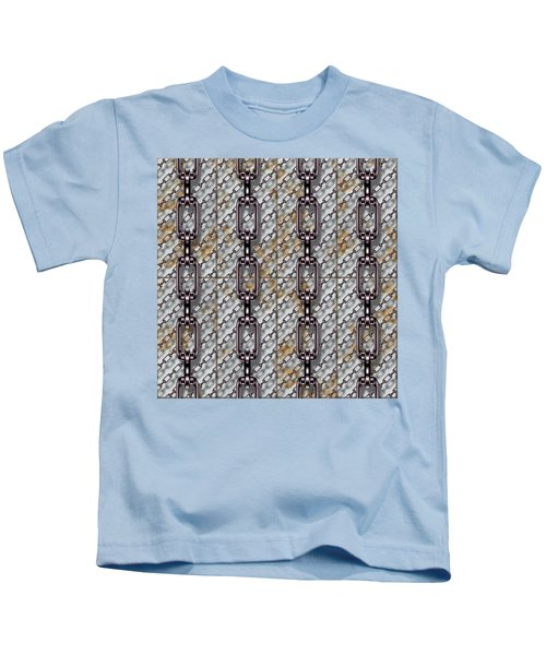Iron Chains With Metal Panels Seamless Texture Kids T-Shirt