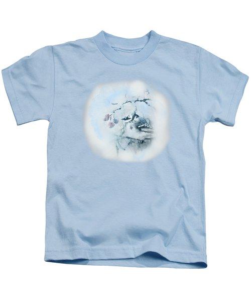 January Bluejay  Kids T-Shirt by Susan Capuano