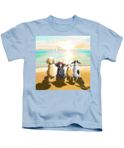 Jersey Shore Sunrise  Kids T-Shirt
