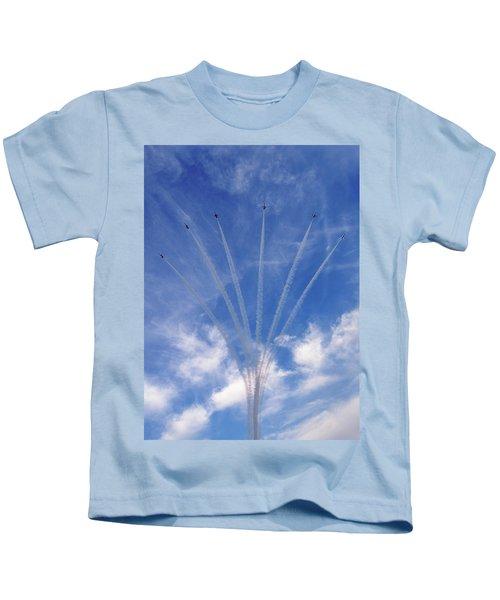 Jet Planes Formation In Sky Kids T-Shirt