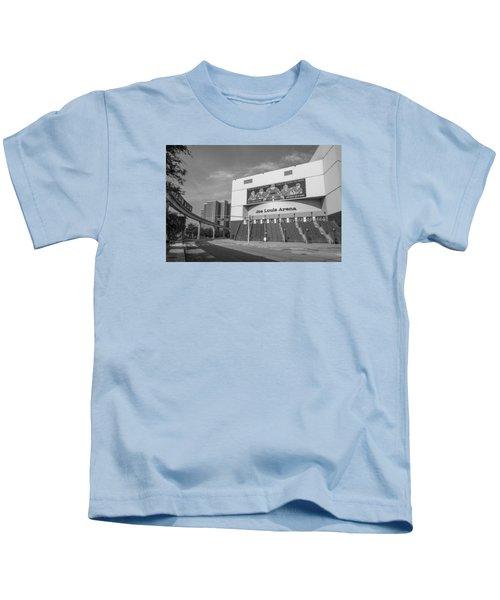 Joe Louis Arena Black And White  Kids T-Shirt
