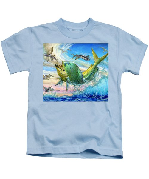 Jumping Mahi Mahi And Flyingfish Kids T-Shirt