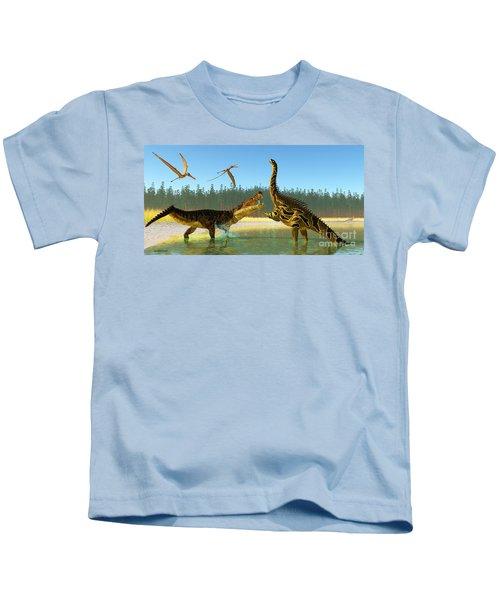 Kaprosuchus Swamp Kids T-Shirt