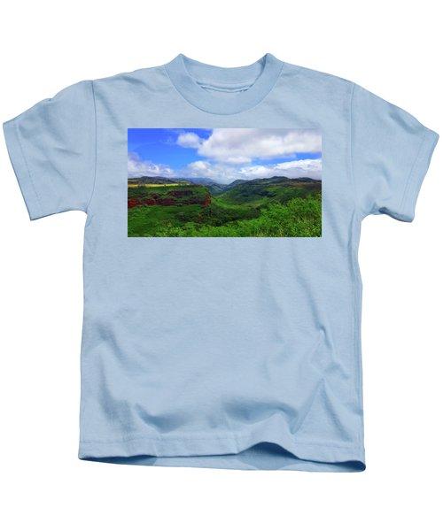Kauai Mountains Kids T-Shirt
