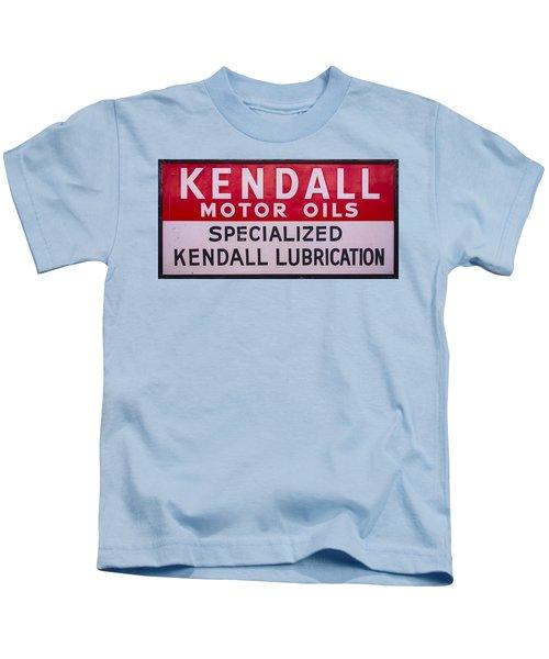 Kendall Motor Oils Sign Kids T-Shirt