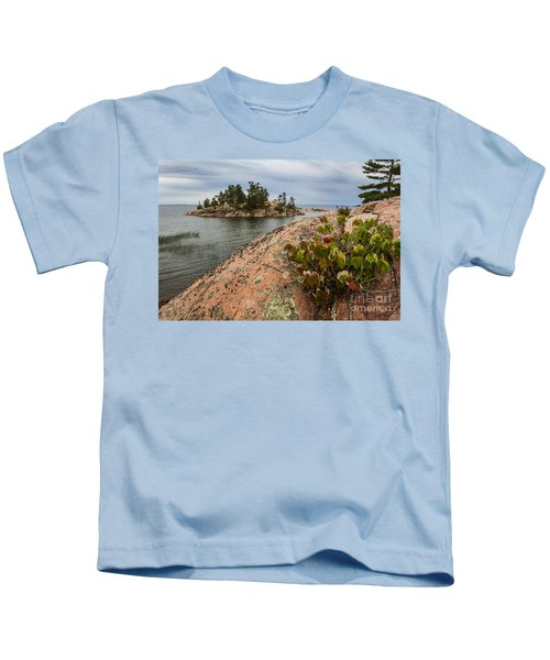 Killarney-island-pink-4530 Kids T-Shirt