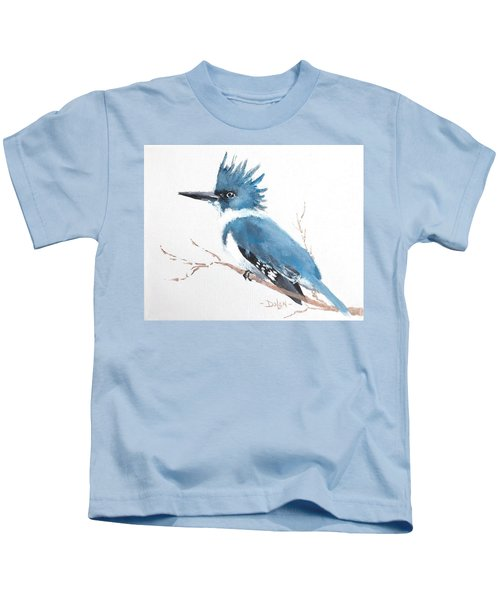 Kingfisher On A Branch Kids T-Shirt