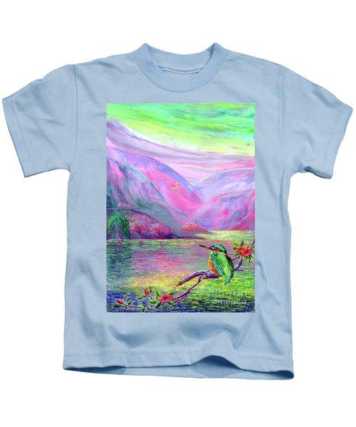 Kingfisher, Shimmering Streams Kids T-Shirt