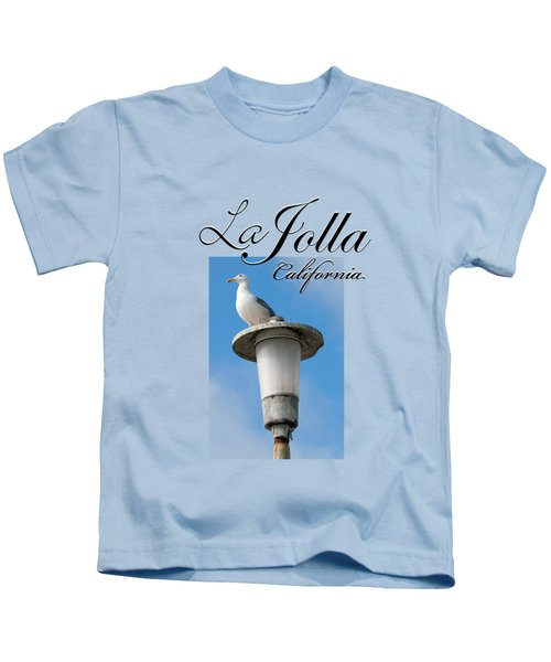 La Jolla Beach Seagull II Kids T-Shirt by K D Graves