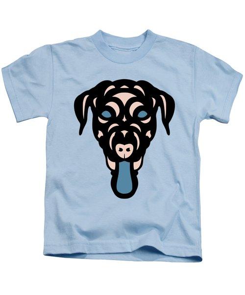 Labrador Dorianna - Dog Design - Island Paradise, Pale Dogwood,  Niagara Blue Kids T-Shirt